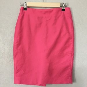J Crew Double Serge Cotton Pencil Skirt